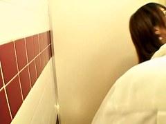 Hot japanese slut with big bun has sex in hot voyeur video