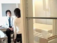 Medical fantasies acomplished in japanese voyeur video