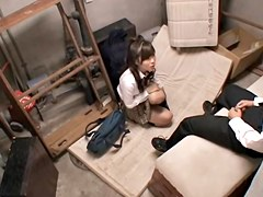 Petite Jap gives a masterful head in voyeur Asian BJ video