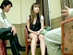 Skinny Japanese enjoys hardcore Asian banging on the bed
