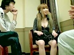 Blonde Asian with big tits enjoys Japanese hardcore dicking