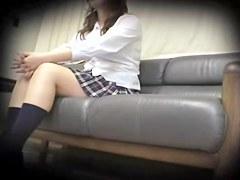 Big butt Asian teen screwed and creamed on hidden camera