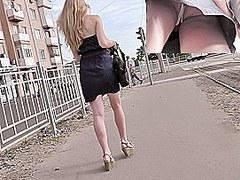 View up petticoat discloses her secret