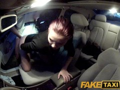 FakeTaxi: Youthful student bonks for specie on her voyage