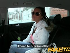 FakeTaxi: Hawt juvenile Czech beauty sucks weenie to pay for her fare