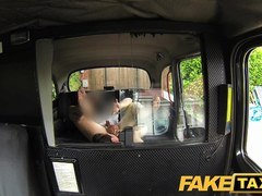 FakeTaxi: Nymphomaniac flight attendant can't receive sufficiently dick