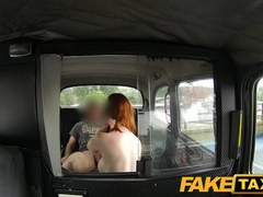 FakeTaxi: Nasty red head with a great couple of scoops
