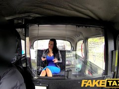 FakeTaxi: Exotic stunner in office break taxi pleasure
