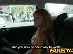 FakeTaxi: Lengthy red hair and a precious bald twat