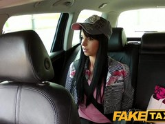 FakeTaxi: Miniature juvenile model trys to fit massive pecker in month