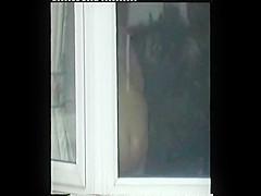 peeping at neighbours fat ass