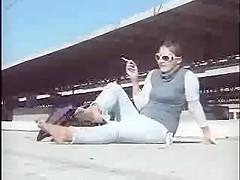 barefoot smoking bitch Chat Noir