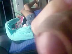 Flashing asian in pantyhose (read description 4 hot story)