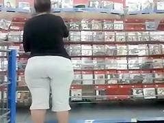 Spying Big Mature Butt - Candid Ass Voyeur - BBW Booty
