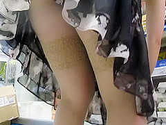 Stockings upskirt in market 2