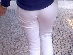 SDRUWS2 - SEE THROUGH WHITE PANTS AND WHITE PANTIES  2