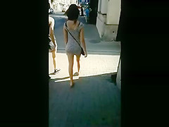 Sexy asses show on the street