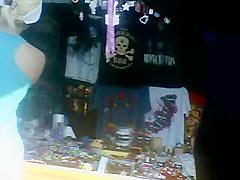De compras: culona en spandex