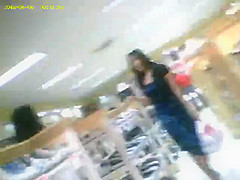 boso voyeur teen upskirt girl on shoe store