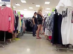 LEGGY blonde in jean shorts & flip flops