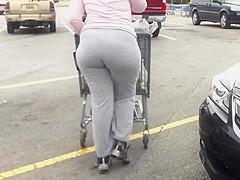 Wide Black Ass Gray Jumpsuit..