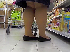 Tights Ballerinas in the Supermarket