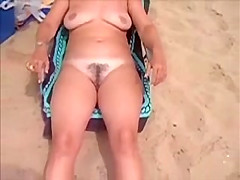 HAIRY MILF AT NUDE BEACH