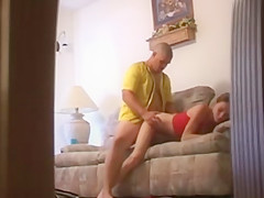 Skinny girl get taped with hidden cam