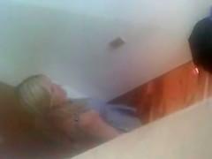 Rich Blonde Milf Topless In Change Room