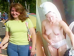 Hidden cam milf wife after shower