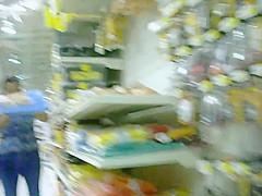 Big ass woman in store filmed by hidden cam