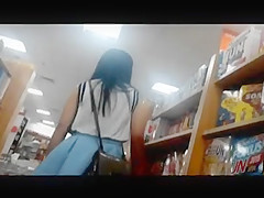 White Upskirt Pretty Teen Gramedia PTC, Surabaya, Indonesia
