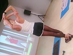 Candid nylon leggings gym part2