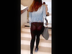 slutty student transparent leggings
