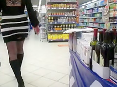 Stockings upskirt in a market 3