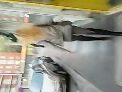 voyeur: sexy french ass in street