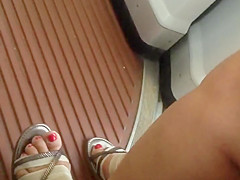 Sexy feet on the tram in Basel