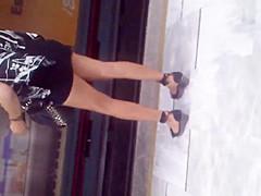 Minifalda de rubia