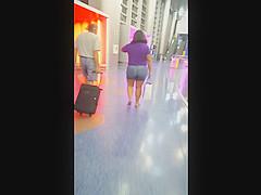 White BBW milf at airport 1