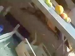 upskirt at the market