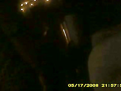 black chick with super round ass(hidden cam)