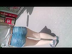 Blonde Teen Girl with Sexy Ass