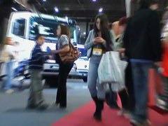 Amazing street candid filmed by an voyeur man