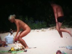 Beach movie of some amazing hot babes in swimsuits