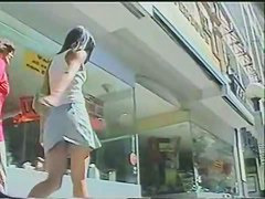 Upskirt hot video of sexy chicks in public