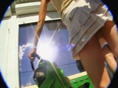 Hot upskirt film that is made on my hidden camera