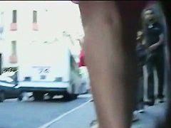 I made an upskirt video of some nice beauties on the street