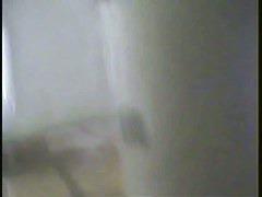 Toilet voyeur video of a hot slim blonde pissing