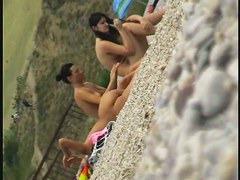 Real beach voyeur amazing brunette teen