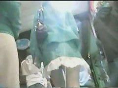 Hot Asian buttocks caught on upskirt voyeur videos.
